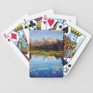 Grand Tetons reflecting in the Snake River Bicycle Playing Cards