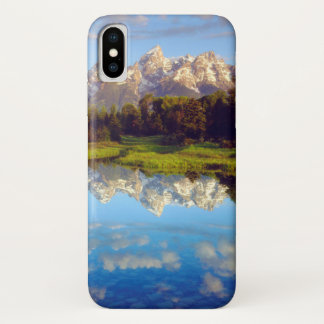 Grand Tetons reflecting in the Snake River iPhone X Case