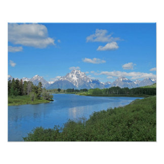Grand Tetons Scenic View Poster