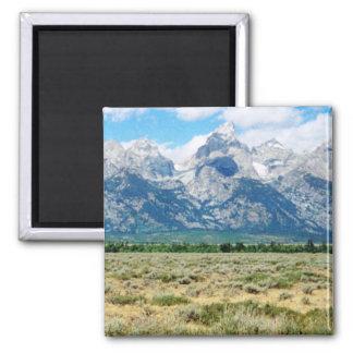 Grand Tetons Square Magnet