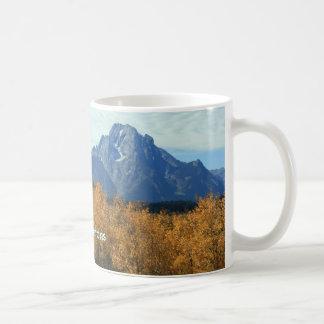 Grand Tetons With Aspens Basic White Mug
