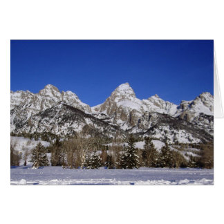 Grand Tetons, WY Winter Greeting Card