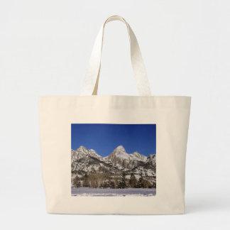 Grand Tetons, WY Winter Jumbo Tote Bag