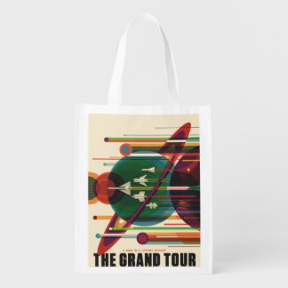 Grand Tour - Retro NASA Travel Poster Market Tote