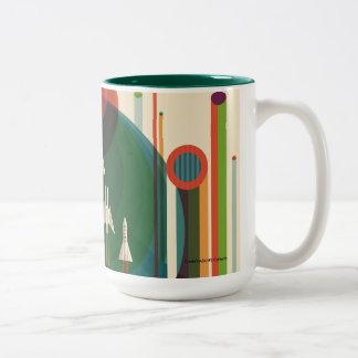 Grand Tour - Retro NASA Travel Poster Two-Tone Mug