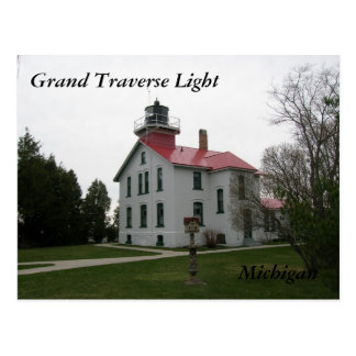 Grand Traverse Light, Michigan Postcards