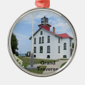 Grand Traverse Lighthouse Metal Ornament