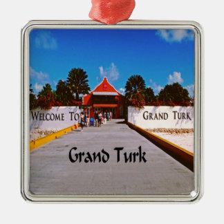 Grand Turk Metal Ornament