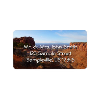 Grand View Point at Canyonlands National Park Address Label