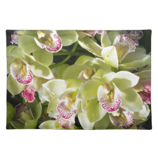 Grand yellow boat orchids placemat