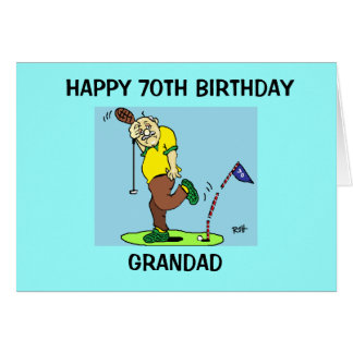 GRANDAD 70TH BIRTHDAY CARD