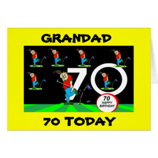 GRANDAD 70TH GOLFING BIRTHDAY CARD