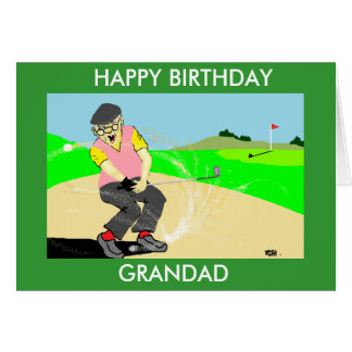 grandad  funny golfing birthday card