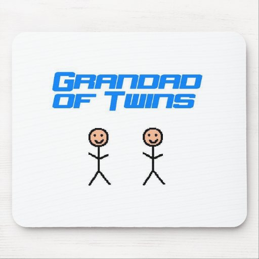 grandad of twins mousepad