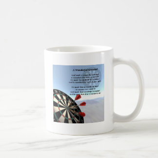 Grandad Poem - Darts Basic White Mug