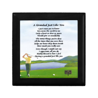 Grandad Poem - Golf Small Square Gift Box