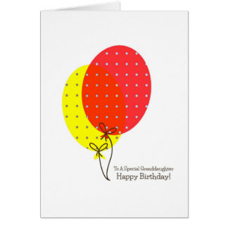 Grandaughter Birthday Cards, Big Colourful Card