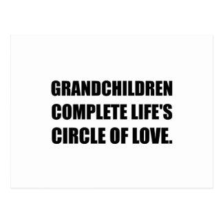 Grandchildren Circle Of Love Postcard