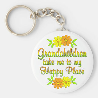 Grandchildren Happy Place Key Ring