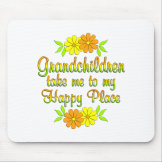 Grandchildren Happy Place Mouse Pad