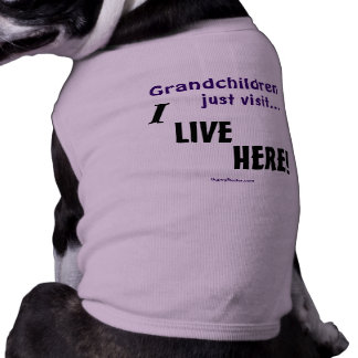 Grandchildren just visit..., I LIVE HERE! Shirt