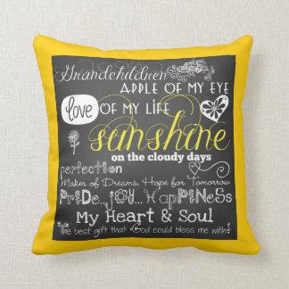 Grandchildren Love and Inspiration Pillow Cushion