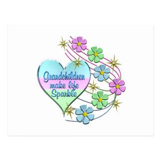 Grandchildren Make Life Sparkle Postcard