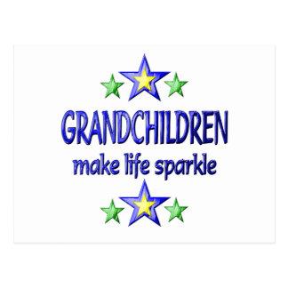 Grandchildren Sparkle Postcard