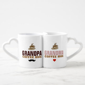 granddad & grandmom idea lovers mug sets