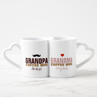 granddad & grandmom nice idea coffee mug set