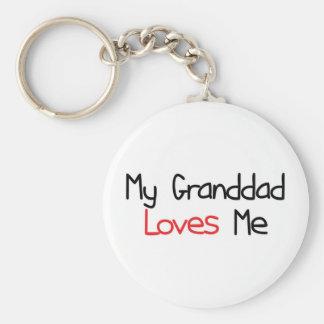 Granddad Loves Me Key Ring