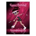 Granddaughter Birthday Card - Tennis