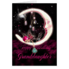 Granddaughter Birthday Card With Fantasy Moon Fair