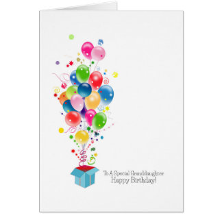 Granddaughter Birthday Cards Colorful Balloons
