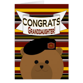 Granddaughter - Congrats Army Active Duty Greeting Card