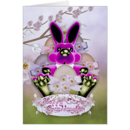 Granddaughter easter gifts on zazzle au granddaughter cute easter bunny greeting card negle Choice Image