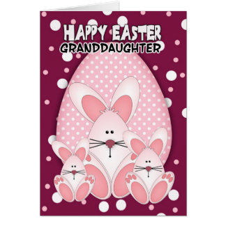 Granddaughter easter gifts t shirts art posters other gift granddaughter easter bunny greeting card negle Gallery