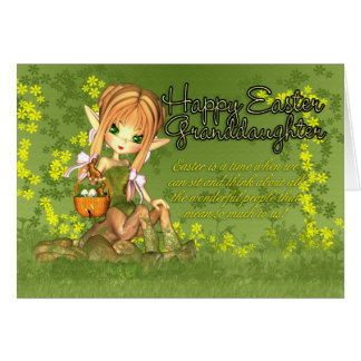 Granddaughter Easter Card - Cute Centaur With East