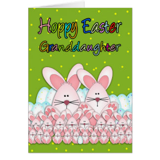 Granddaughter easter gifts t shirts art posters other gift granddaughter easter card with easter bunnies negle Gallery