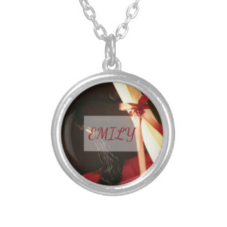 Granddaughter Graduation Wishes Silver Plated Necklace