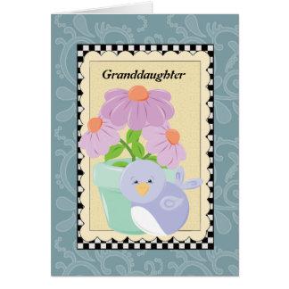 Granddaughter greeting card
