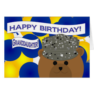 Granddaughter Happy Birthday Air Force Active Duty Greeting Card