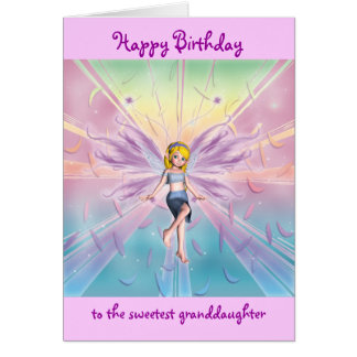 Granddaughter happy birthday customizable greeting card