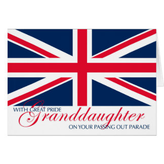 Granddaughter Marching in Passing Out Parade Card