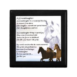 Granddaughter Poem - Horses Design Gift Box
