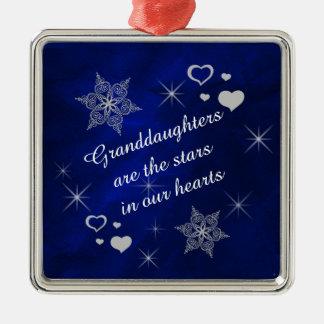 Granddaughter Star Heart Keepsake Christmas Ornaments