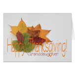 Granddaughter  thanksgiving foliage greeting cards