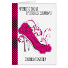 Granddaughter Trendy Shoe And Rose Birthday Greeti Card