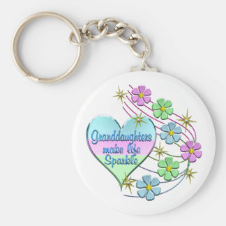 Granddaughters Make Life Sparkle Key Ring