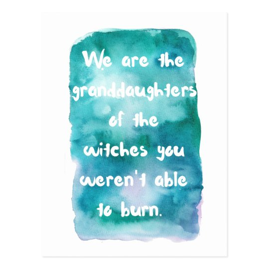 Granddaughters of Witches Postcard
